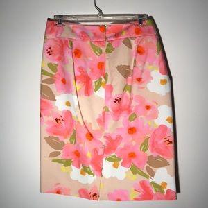 J Crew Floral Skirt, size 10
